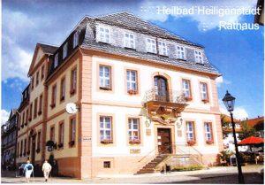 Ansichtskarte von Heilbad Heiligenstadt Motiv Rathaus mit Umschlag, DIN A5, farbig
