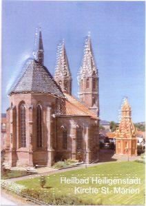 Ansichtskarte von Heilbad Heiligenstadt Motiv St. Marien mit Umschlag, DIN A5, farbig