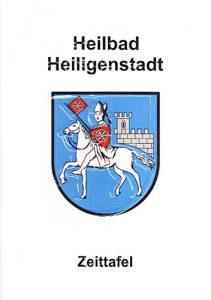 Zeittafel von Heilbad Heiligenstadt mit den wichtigsten Ereignissen der Stadt DIN A5, farbig